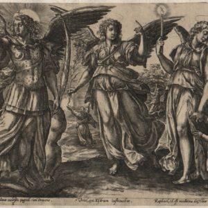 Angels – 1585 – Framed Set of 2 plates