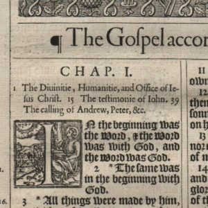 "King James ""He"" – 1611 – JOHN 1 Title"