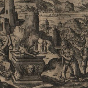 Story of Jephthah – 1585 – Set of 4 plates