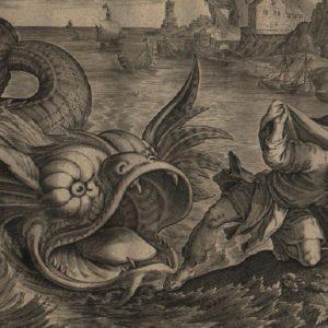 Story of Jonah – 1585 – Set of 4 plates