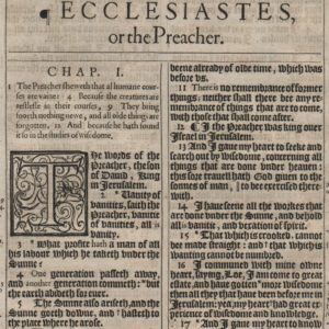 King James – 1611 – Ecclesiastes 1-2