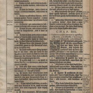 King James – 1611 – Ecclesiastes 3-5