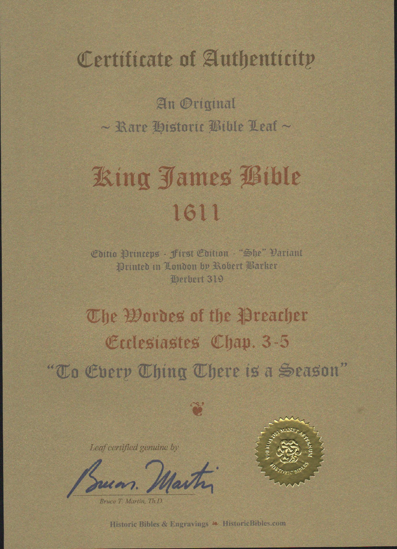 King James - 1611 - Ecclesiastes 3-5