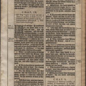 King James – 1611 – Ecclesiastes 9-11