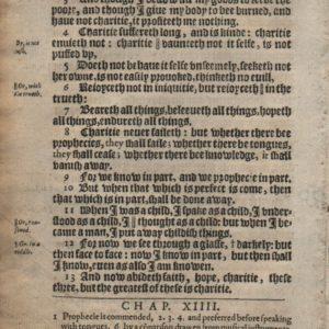 King James – 1612 – I CORINTHIANS 13