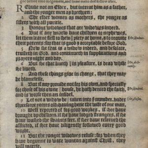 King James – 1612 – 1 TIMOTHY 5