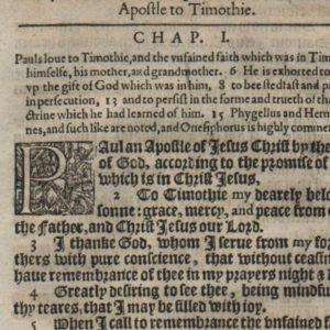 King James – 1612 – 2 TIMOTHY 1