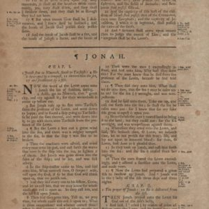 King James (Collins) – 1791 – JONAH leaf-set