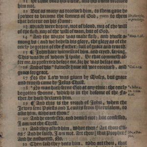 King James – 1612 – JOHN 1