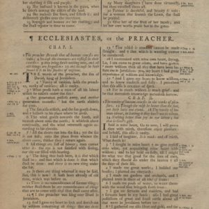 King James (Collins) – 1791 – ECCLESIASTES 1-5 leaf-set