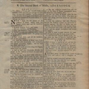 King James (Collins) – 1791 – EXODUS 1-3