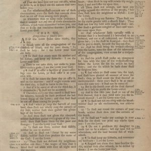 King James (Collins) – 1791 – LEVITICUS 18-20