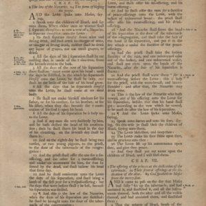 King James (Collins) – 1791 – NUMBERS 5-7