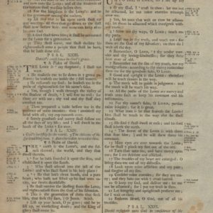 King James (Collins) – 1791 – PSALMS 20-25