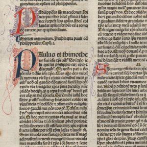 Biblia Sacra – 1479 – PHILIPPIANS (complete)