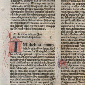 Biblia Sacra – 1479 – RUTH 1-3 Title