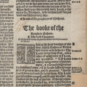 Great Byble – 1540 – Nahum 1 Title & Micah