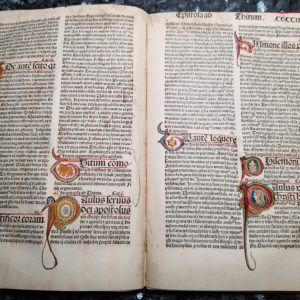 Biblia Sacra – 1482 multi – EPISTLES 24-Leaf Set