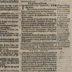 Geneva – 1583 – PSALMS 19-23