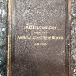 Revised Version – 1881 – New Testament – PRESENTATION COPY