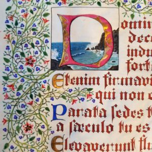 Biblia Sacra – Illuminated Manuscript Art – PSALM 93