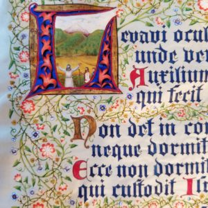 Biblia Sacra – Illuminated Manuscript Art – PSALM 121