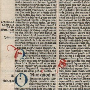 Biblia Latina – 1495 – HABAKKUK (all)