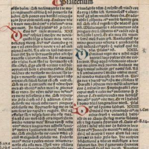 Biblia Latina – 1495 – PSALMS 21-28