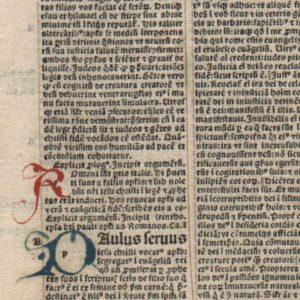 Biblia Latina – 1495 – ROMANS 1-3