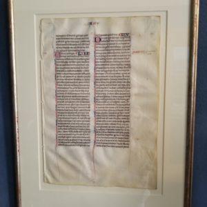 Biblia Sacra – 1300 – ISAIAH 64-66 (Framed)