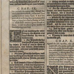 King James – 1611 – 2 Corinthians 7-9