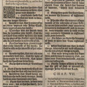 King James – 1611 – Romans 6-8