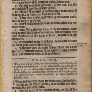 King James – 1612 – ROMANS 8, pt. 1