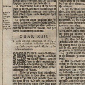 King James – 1611 – Isaiah 11-14