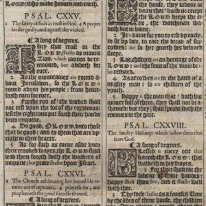 King James – 1611 – Psalms 124-132