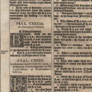 King James – 1611 – Psalms 132-137