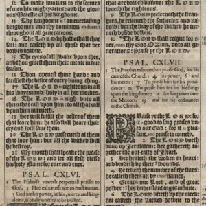 King James – 1611 – Psalms 143-147