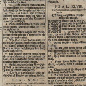 King James – 1611 – Psalms 46-50