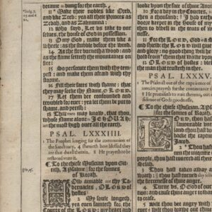 King James – 1611 – Psalms 83-88