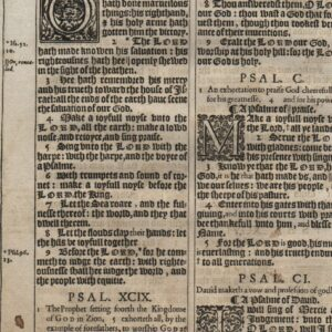 King James – 1611 – Psalms 95-101