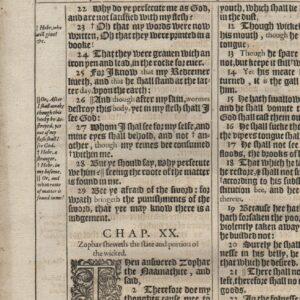 King James – 1611 – Job 19-22