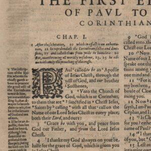Geneva – 1612 – EPISTLES 19-Leaf Set: 1 & 2 COR, GAL, EPH