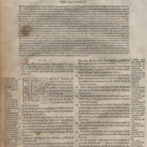 Geneva – 1562 – ROMANS 1 Title