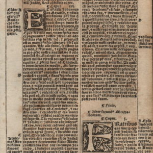 Biblia Sacra – 1531 – 2 MACCABEES 1, and 1 Maccabees 16