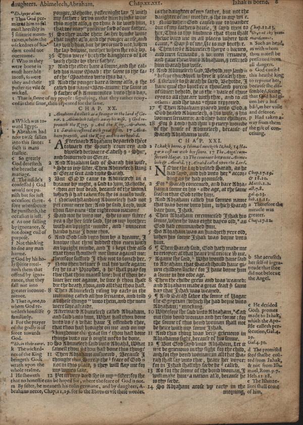 Geneva - 1581 - GENESIS 19:34-22:17