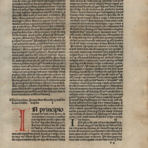 Biblia Sacra – 1484 – GENESIS 1-14 – 4 leaf Set