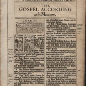 King James – 1617 – MATTHEW 1:1-2:20