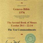 Geneva - 1576 - EXODUS 20:1-22:14