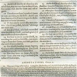 Rheims (Fulke's) – 1601 – 2 CORINTHIANS 5:15-21, w