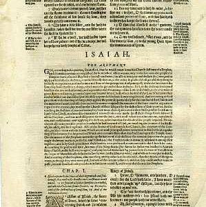 Geneva - 1595 - ISAIAH 1:1-13:8